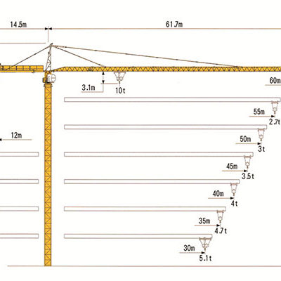 Башенный кран с оголовком RUNCHEN RCT6024-10