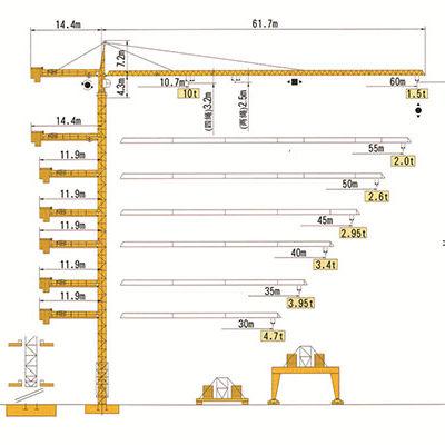 Башенный кран с оголовком RUNCHEN RCT6015-10